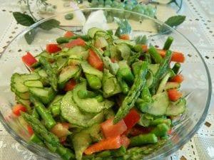 Cucumber Asparagus Salad