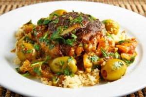 Moroccan Chicken Tagine with Olives and Preserved Lemons