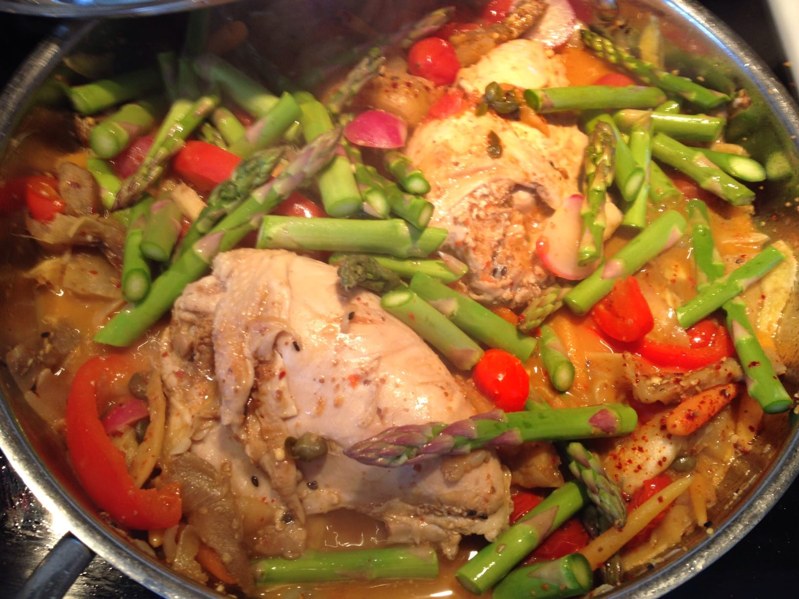 ... Chicken with Asparagus and Eggplant! - Simply Natural Gourmet Cookbook