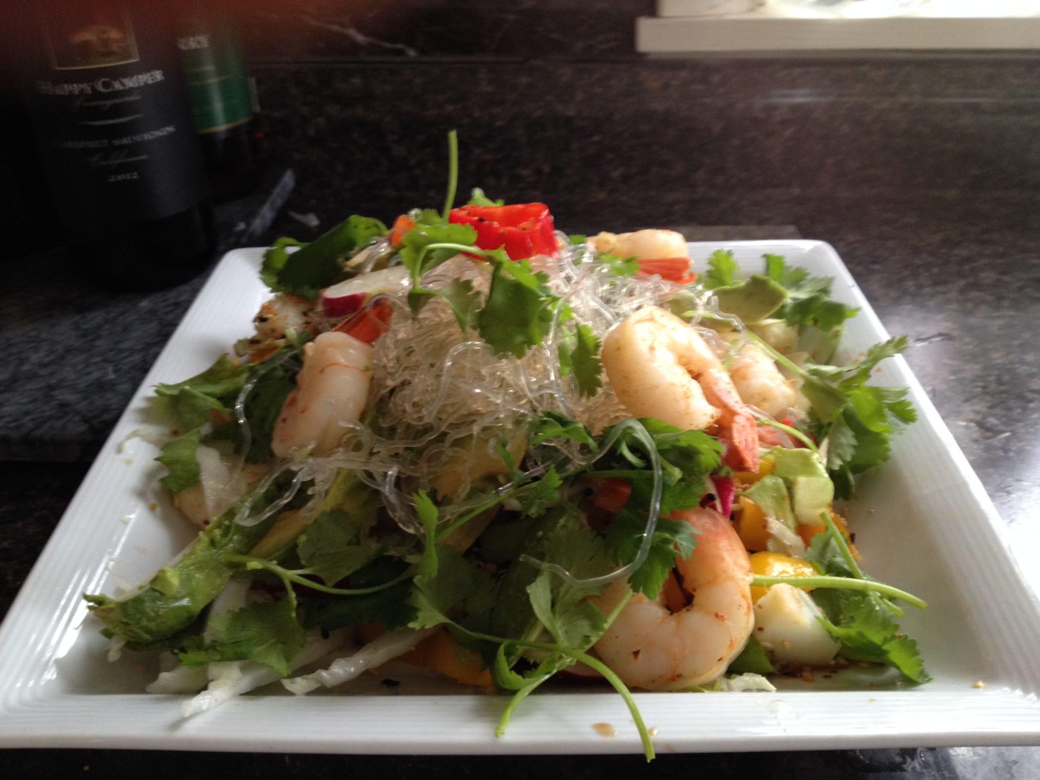kelp noodle& shrimp salad