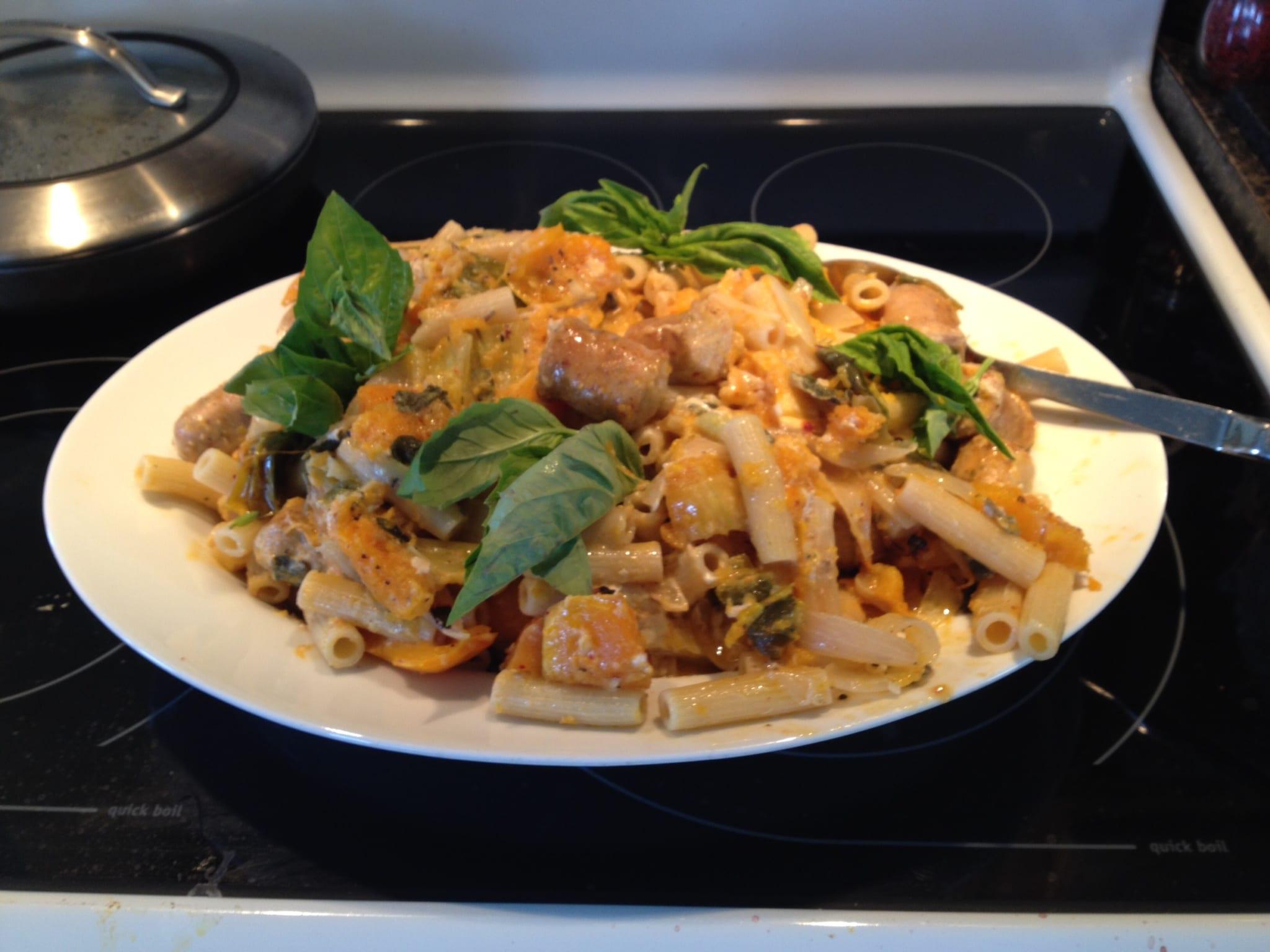Spaghetti with Butternut Squash, Sage, and Prosciutto