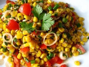 corn and cilantro salad