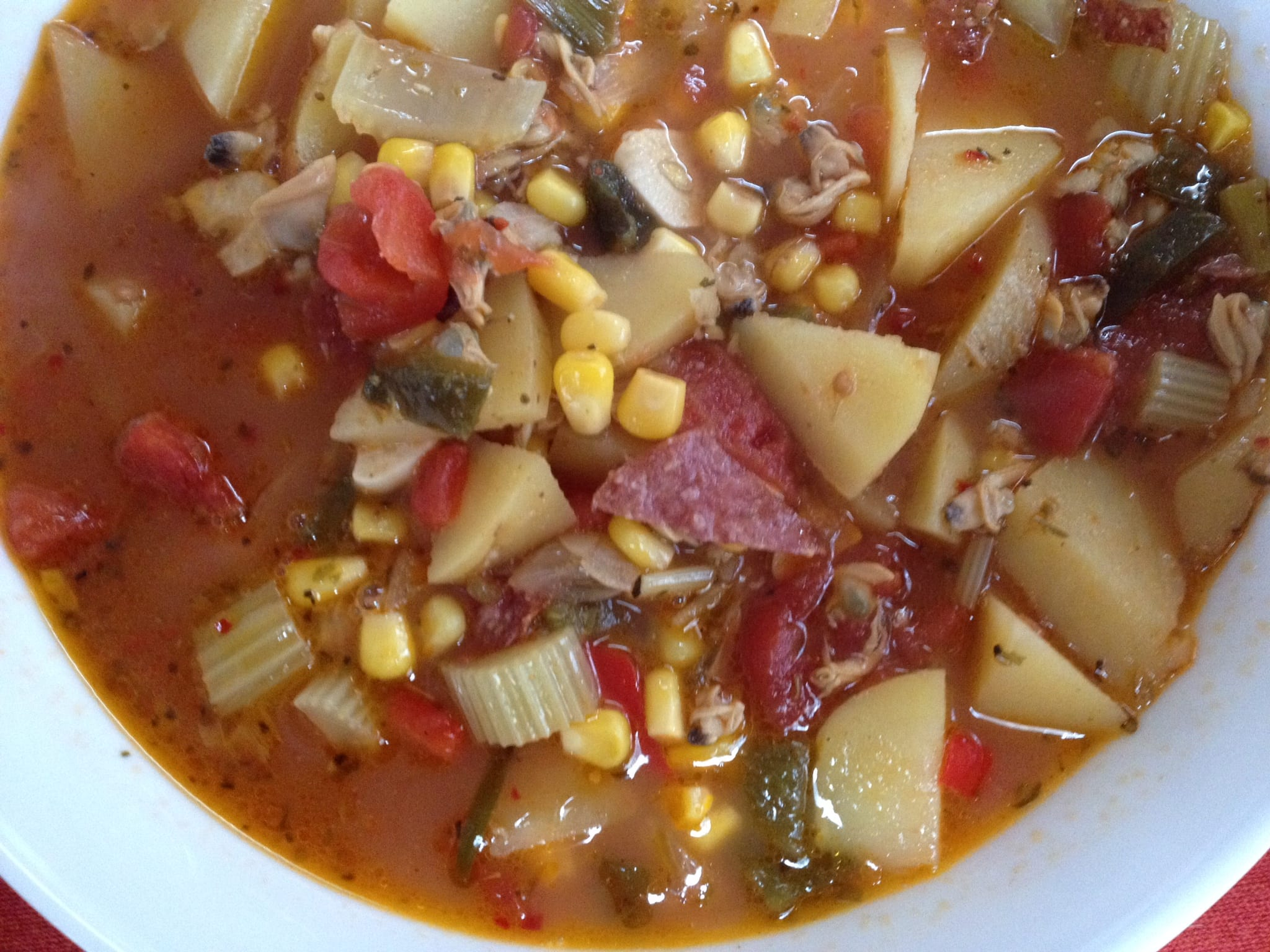 ... Cookbook Spicy Clam and Corn Chowder - Simply Natural Gourmet Cookbook