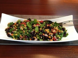 Black Bean Cashew and Pea Pod Salad