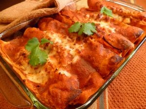 vegetarian enchiladas  The lighter side of Cinco De Mayo