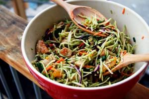 oriental coleslaw with nori