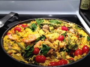 healthy and nutritious spanish paella