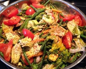 escarole and green bean stir fry