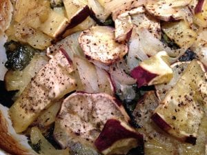 scalloped potatoes with swiss chard