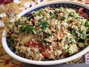 minted Israeli couscous salad