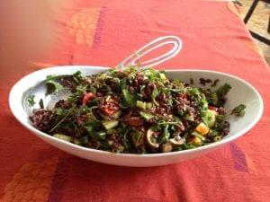 japonica rice blend salad