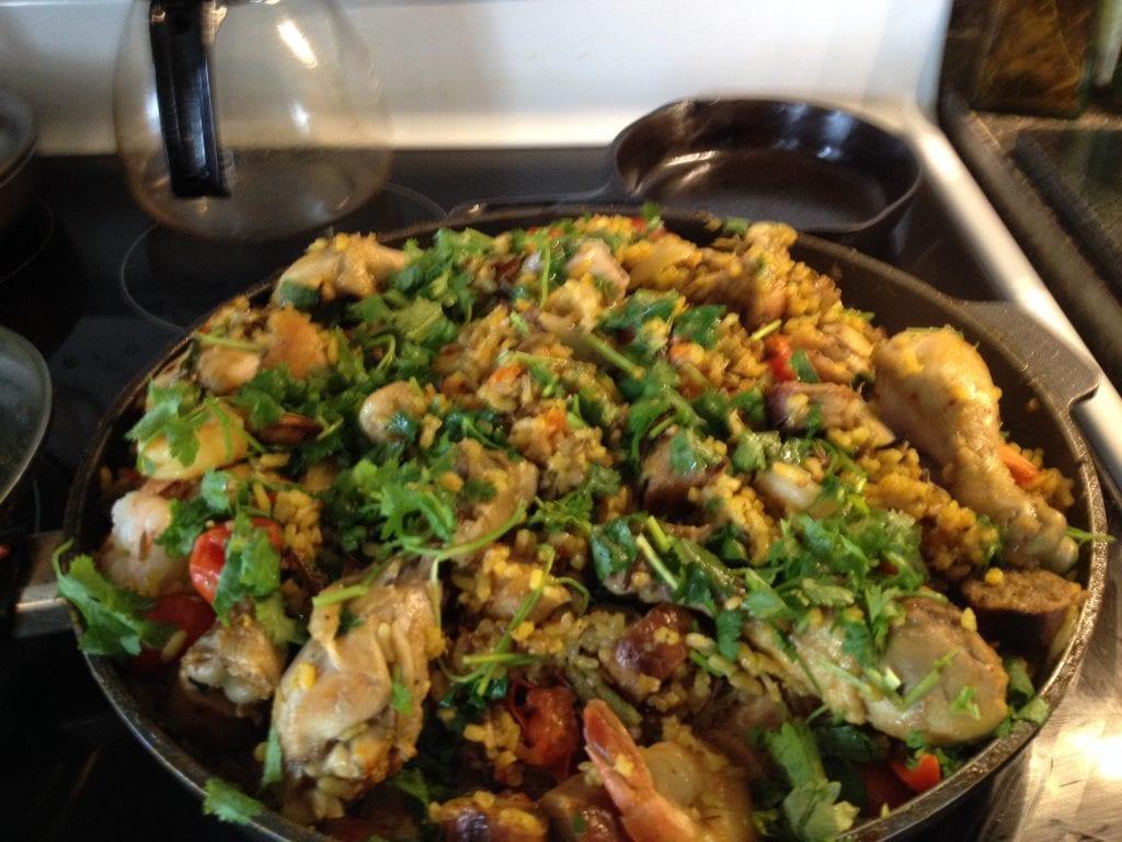 variation on spanish paella