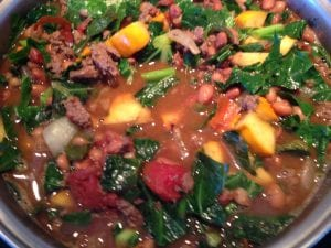 Heirloom Bean Chili with Winter Squash and Collards