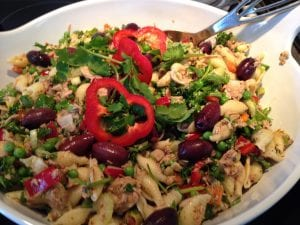 Tuna Pasta Salad with Fatoush Dressing