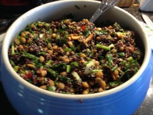Quinoa Lentil Salad with Zaatar1